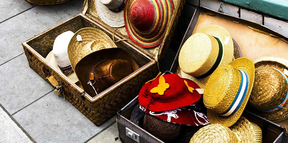 Colourful hats for sale